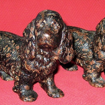 Hubley #427  Cocker Spaniel Bookends - Animals