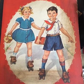 Paper doll book, The John C. Winston Company, 1942, Phildelphia. - Dolls