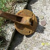 Superior-Chicago RR switch (dug up in Duluth)
