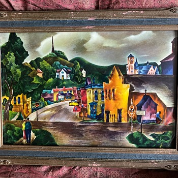 Walnut Street, Baraboo - a framed print by William Schwartz - Posters and Prints