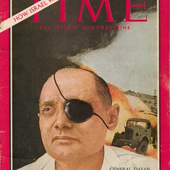 1967 - TIME Magazine - General Moshe Dayan - Paper