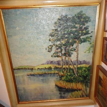 Oil on canvas Landscape - Fine Art