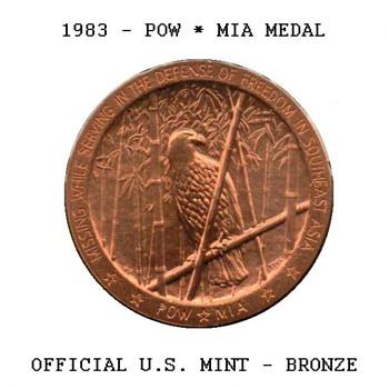 1983 - POW*MIA Bronze Medal - US Coins