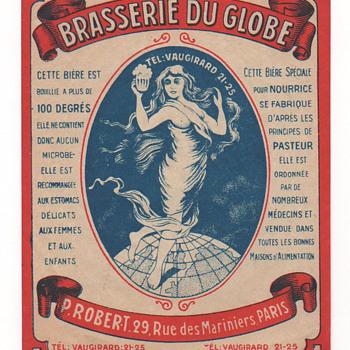 Brasserie du Globe - Paris (France) - Breweriana