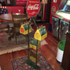 1930's Coca-Cola display  rack with double-sided sign