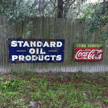 Standard oil sign from 1930's - Petroliana