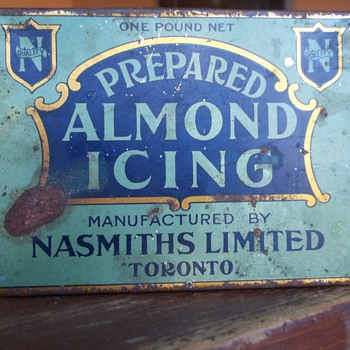 Nasmith Mfg. Ltd. Toronto Almond Icing Tin - Advertising