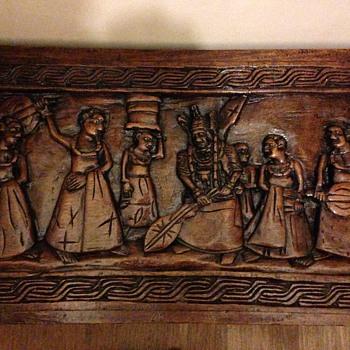 Hand carved wooden panels - Folk Art