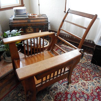 Antique Morris Chair Mission Style Rescue - Furniture