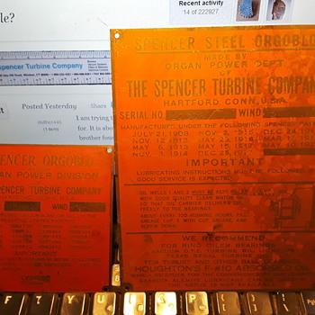 "The SPENCER TURBINE COMPANY ""ORGOBLO"" - Musical Instruments"