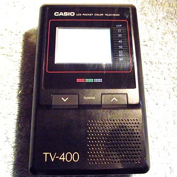 1989-casio tv 400 pocket television-analogue only.