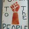 Original 1960's Seattle POWER To The PEOPLE Black Panther Protest Sign