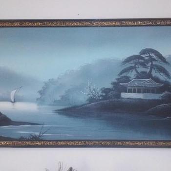 Calming Blue Asian Art - Fine Art