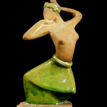Pottery Dancing Woman, Unsigned - Figurines