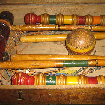 early croquet set - Games