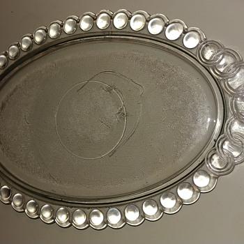 Unknown platter - Glassware