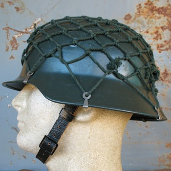 West German M40/52 Stahlhelm with net - Military and Wartime