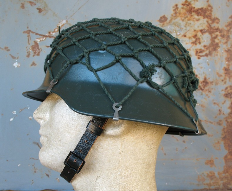 West German M40/52 Stahlhelm with net | Collectors Weekly