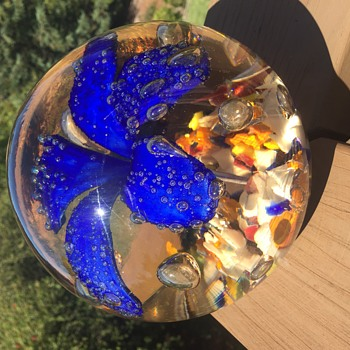 "6"" art glass ball - Art Glass"