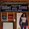 Miller Tires...Truck And Bus...Geared To The Road...Porcelain Sign...Three Colors