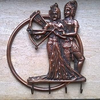 Vintage Bronze Krisna Indonesia Key Holder Thrift Shop Find 3,50 Euro ($3.72) - Asian