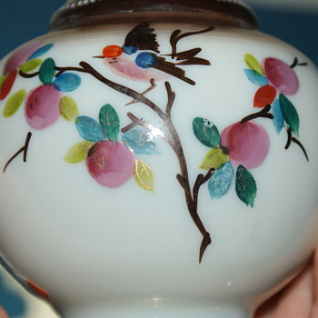 Small Hand Painted Bristol (?) Glass Vase - Art Glass