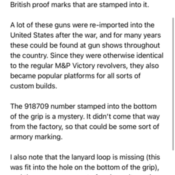 Smith and Wesson reply  - Military and Wartime