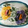 Decorative Floral Dish - Signed But who made it ?