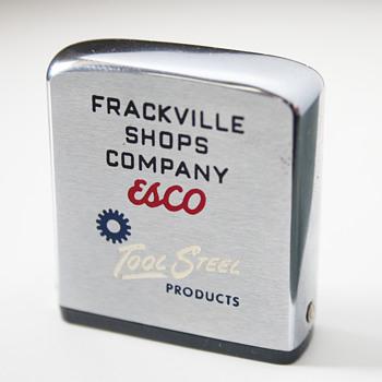 Vintage Measurement Tape by Zippo….Frackville Shops Company  - Advertising