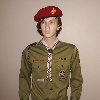 Saturday Evening Scout Post Bicentennial Neckerchief 1976  - Sporting Goods