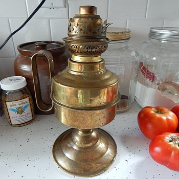 Brass Kerosene Lamp/Sconce Large Wick - Lamps