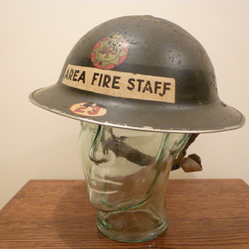 British WWII Senior Fire Officer steel helmet.