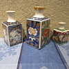 Antique Sq Mini Vases Mix Lot sizes