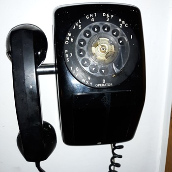 Automatic Electric Black Wall Telephone Mid Century - Telephones