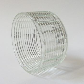 Cut Glass Planter/Pot - Glassware