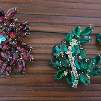 Brooch and Set - Costume Jewelry