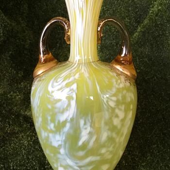 Early Loetz (1890-91) Yellow & White.. - Art Glass