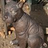 Large Pottery Dog
