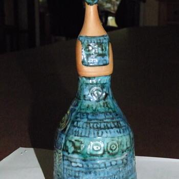 Ceramic and Blue/Green Glaze Mystery Lady - Pottery