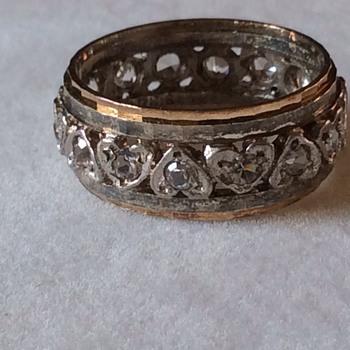 Art Deco 9ct & silver ring