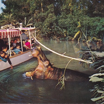Vintage Disneyland Postcards The Jungle Boat Cruise and Mark Twain - Advertising