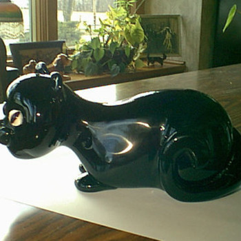 Black Cat - Art Glass