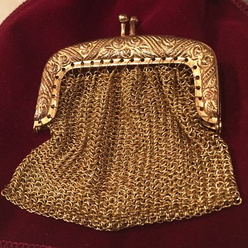 Antique Gold Mesh Purse - Bags