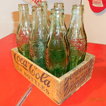 2/3's of a 1920's Coca-Cola Bottle Carrier - Coca-Cola