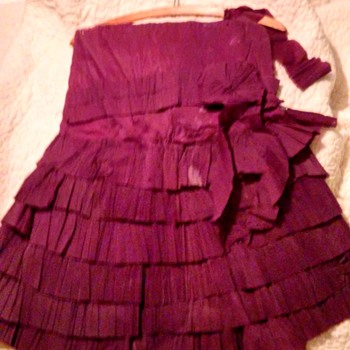 child's Crepe Paper Dress 1920s - Womens Clothing