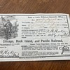 1870 Civil War Soldiers' Re-Union, Des Moines, Iowa - Railroad Pass for Passage on Chicago, Rock Island, and Pacific Railroad