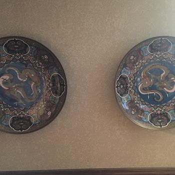 2 Asian Bronze Large Bowls - Asian