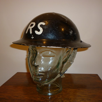 British WWII Civil Defence steel helmet 1939