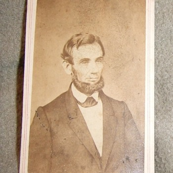 From Life cdv of Abraham Lincoln