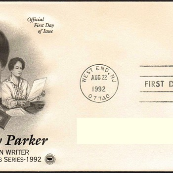 "1992 - ""Dorothy Parker"" Stamp First Day Cover - Stamps"